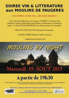 SOIREE VIN & LITTERATURE aux MOULINS DE FAUGERES