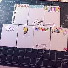 Project Life Swap Cards-Stamped & Watercolored