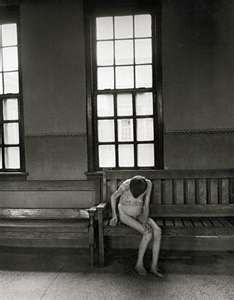 """Psychiatric Asylum - Patient in Women's Ward, Ohio 1946 """"Remember. We were fighting for our lives."""" -Sophie B. Olsen"""