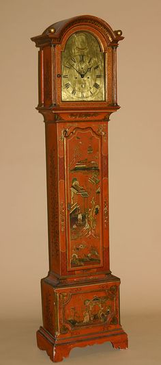 "Fine, English, George III period, chinoiserie and parcel-gilt, tall-case clock: With clock dial signed ""Sam Vale - Coventry.""  Late 18th century."