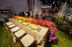Philadelphia flower show 2012, Ombre flower table runner