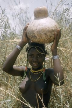 Calabash water container . Africa: Angola