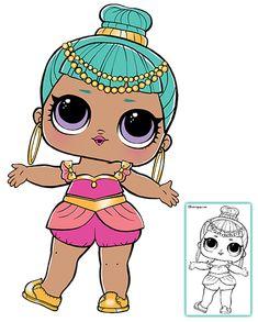 LOL Surprise Doll Coloring Pages – Page 8 – Color your favorite LOL Surprise Doll!