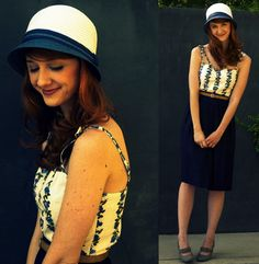 I want to be Jane || Anything Goes (by Jane Bennet)  hat - AQUAtop (jumper) - TOPSHOPskirt - forever21belt - vintageshoes - Ann Marino