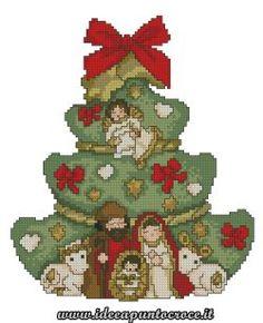 Albero di Natale con presepe Thun