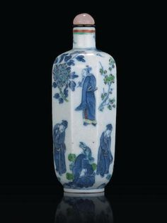 An Octagonal Porcelain Snuff Bottle Yongzheng six-character mark, 19th century
