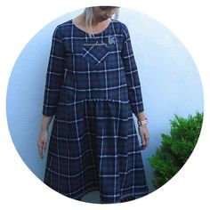Tartan shirt dress V from Stylish Dress Book 1: made and modified by Ivy Arch