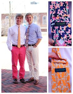 Lilly Pulitzer ties.