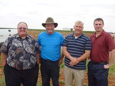 Jet Wilmeth (Diamonte Vineyard), Dusty Timmons (Twin T Vineyard), Mike Sipowicz, Steve Talcott. All part of Texas Custom Wine Crush.