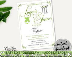 Lingerie Shower Invitation Bridal Shower Lingerie Shower Invitation Modern Martini Bridal Shower Lingerie Shower Invitation Bridal ARTAN #bridalshower #bride-to-be #bridetobe