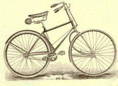 bicicleta dibujo antigua