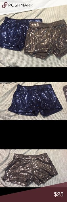 Bundle sequin shorts Adorable work out shorts. Originally 40 each! Will sell as bundle. Only work once- in perfect condition. Not Nike Nike Shorts