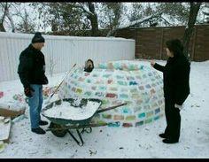 Rainbow colored igloo
