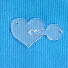 Acrylic Keychain Heart with Key (Package.Price)