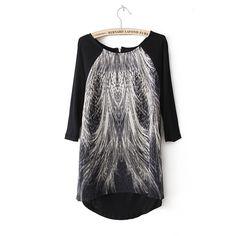 New Women Blouses Long Shirts middle sleeve shirts girl Cotton print Casual Streetwear Shirt S M L Women Plus Size Blous HS1631