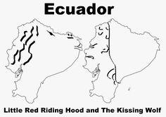 A funny map of Ecuador