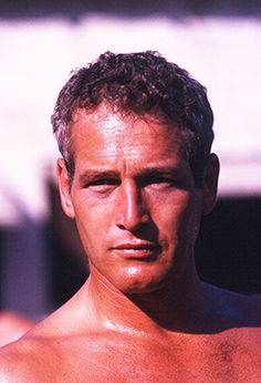 "Paul Newman on the set of ""Cool hand Luke."""