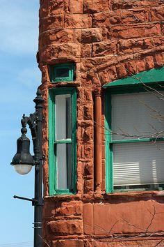 Red Sandstone Building in Port Huron, Michigan