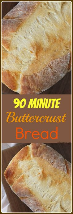 A traditional, basic white bread made easy by a streamlined method. Made special with butter in the bread and on top too! Find recipe at. Bread Bun, Bread Rolls, No Yeast Bread, Pan Bread, Soda Bread, Weight Watcher Desserts, Bread Machine Recipes, Artisan Bread, How To Make Bread
