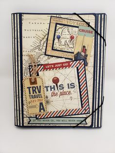 Made this travel folio with the awesome Here and There collection. Pear Trees, Photo P, Just Go, Mini Albums, Paper Crafts, Scrapbook, Cards, Travel, Facebook