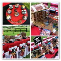 Decoration. Pirate theme party. Lots of pirate party ideas