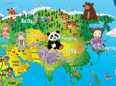 Continents, Kids And Parenting, Mandala, Children, Education, The World, School, Asia, Learning