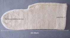 Neulottu tossu ennen huovutusta Crochet Socks, Knitting Socks, Knit Crochet, Diy And Crafts, Handmade, Villa, Google, Projects, Baby