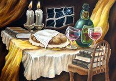 Shabbat table by Michael Zlatopolsky now featured on ArtDealer