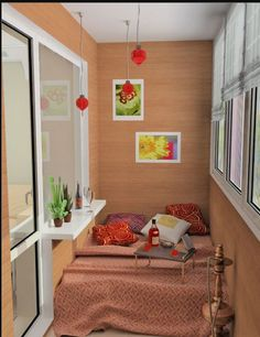 Design small balcony - transform the balcony in an additional comfortable room If you live in a big city, then you might have rented an apartment in the best . Home Decor Bedroom, Kids Bedroom, Outdoor Bedroom, Bedroom Balcony, Small Balcony Design, Narrow Balcony, Sunroom Decorating, Decorating Ideas, Ikea Home