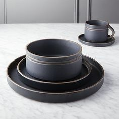 Tilley Stoneware 16pc Dinnerware Set Brown/Gray - Project ...