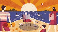 Surviving the Summer | David Doran Illustration