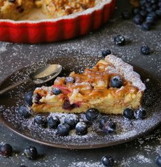 A family favourite recipe: caramel apple and blueberry tart. Made with the easiest and most forgiving pastry I've ever made! Dessert is served.