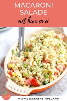 Macaroni salad with ham - Tasty and Simple Vegetarian Recipes, Snack Recipes, Healthy Recipes, Macaroni Salad With Ham, Easy Smoothie Recipes, Weird Food, 20 Min, Food For Thought, Summer Recipes