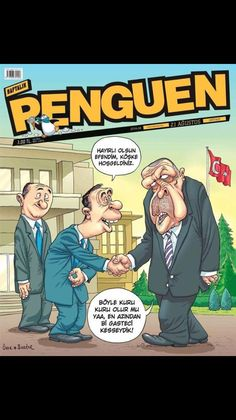 Turkey's getting-on-two-decade policy of using the court system to suppress free speech including expression in cartoon form continued late last week when two cover cartoonists for the satirical Penguen Satire, Comic Books, Cartoon, Comics, Cover, Free, Cartoons, Comic, Comic Book