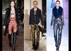 Bold brocades from Altuzarra, J.Crew, and Jason Wu  Fall 2012. #StyleInvades #NYFW #MBFW