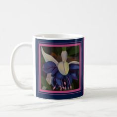 This is the Honeysuckle Coffee Mug. The Honeysuckle is June's Birth Month Flower, symbolizing love, devotion, & affection.