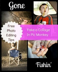 How to make a collage using the #free photo editing software Pic Monkey... They currently don't have the collage function on the site, however, there is an easy way to make one until they add that feature:)