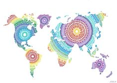 World Map Mandala by Josilix