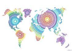 World Map Mandala by Josilix