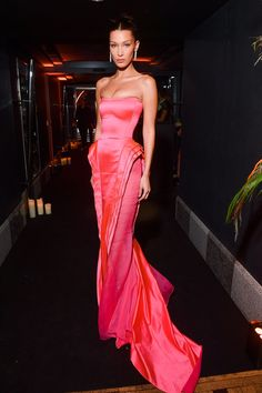 Bella Hadid Looked Like Barbie IRL in a Hot-Pink Jean Paul Gaultier gown and diamond drop earrings from Bella Hadid Outfits, Bella Hadid Style, Runway Fashion, Fashion Show, Paris Fashion, 2000s Fashion, Gothic Fashion, Fashion News, Winter Fashion