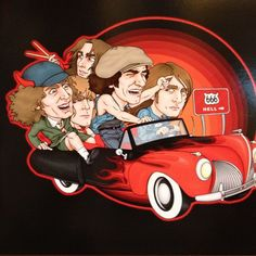 """AC/DC Picture Disc LP """"Thunderstruck In Iowa"""" - In Great Cartoon Picture Sleeve !!"""