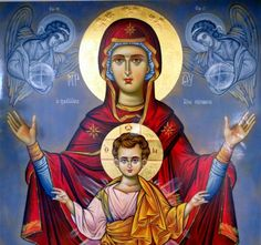 Let's celebrate all of the birth mothers who have made the courageous decision to choose life and to place their child for adoption! Mother's Day is on Sunday, May 2018 Religious Images, Religious Icons, Religious Art, Byzantine Art, Byzantine Icons, Catholic Art, Catholic Saints, Hail Holy Queen, Mama Mary