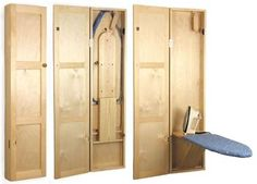 19-W2713 - Ironing Board Cabinet Woodworking Plan