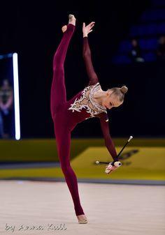 Olena DIACHENKO (Ukraine) ~ Clubs @ Deriugina Cup - Grand Prix @ Kiev 17/03/'17 Anna Kull.