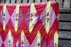 Cranberry Tart quilt top - Rachel Hauser