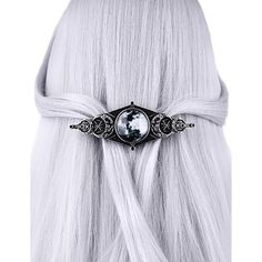 Let your inner Divine Feminine shine through with this gorgeously crafted Triple Goddess Hair Clip. The moon cabochon is printed beneath magnified glass for Gothic Hairstyles, Goddess Hairstyles, Smart Casual, Gothic Accessories, Hair Accessories, Fashion Accessories, Forever21, American Girl, Mauve
