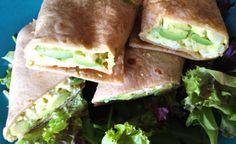 Skinny Avocado Egg Salad Wrap