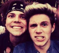 Ashton Irwin and Niall Horan