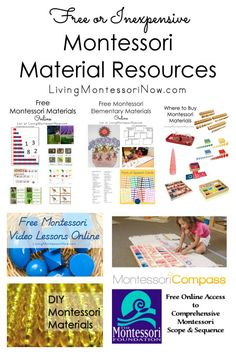 Lots and lots of free or inexpensive Montessori material resources for parents and teachers - Living Montessori Now Montessori Preschool, Montessori Education, Montessori Materials, Preschool Ideas, Child Development Activities, Learning Activities, Nursery Practitioner, Homeschool Blogs, Homeschooling