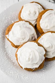 The Best Gluten Free Pumpkin Cookies recipe EVER! Soft, pillowy mounds of heaven. So moist and fluffy, they practically melt in your mouth!
